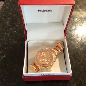 Rose gold women's watch.